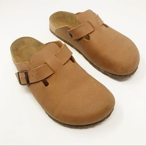 Birki's by Birkenstock's Brown Suede Slip-On Clogs